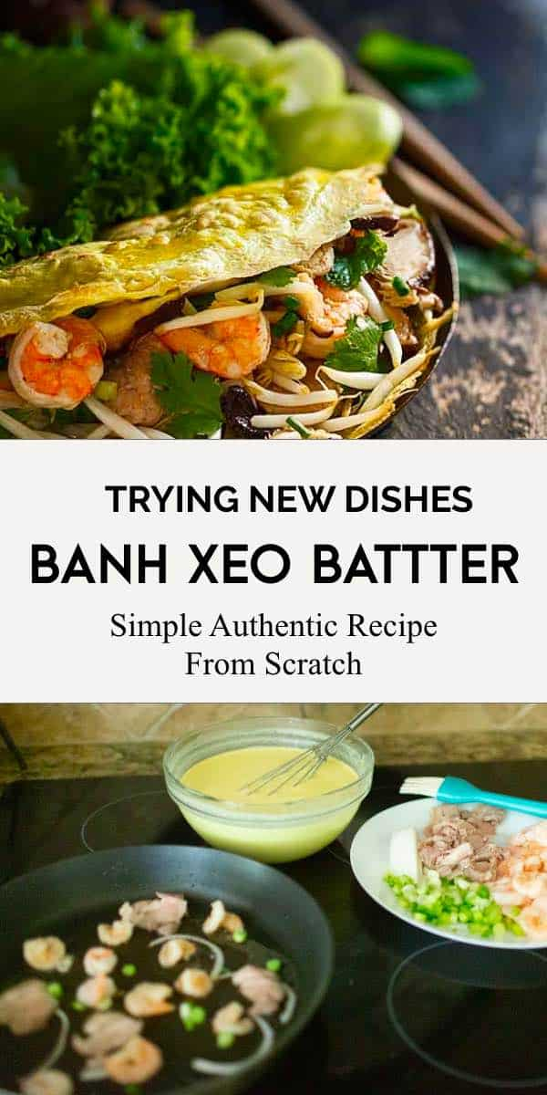 Authentic banh xeo batter scratch