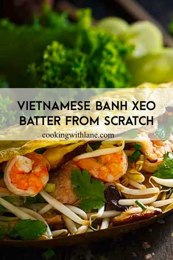 Banh xeo Vietnamese batter from scratch