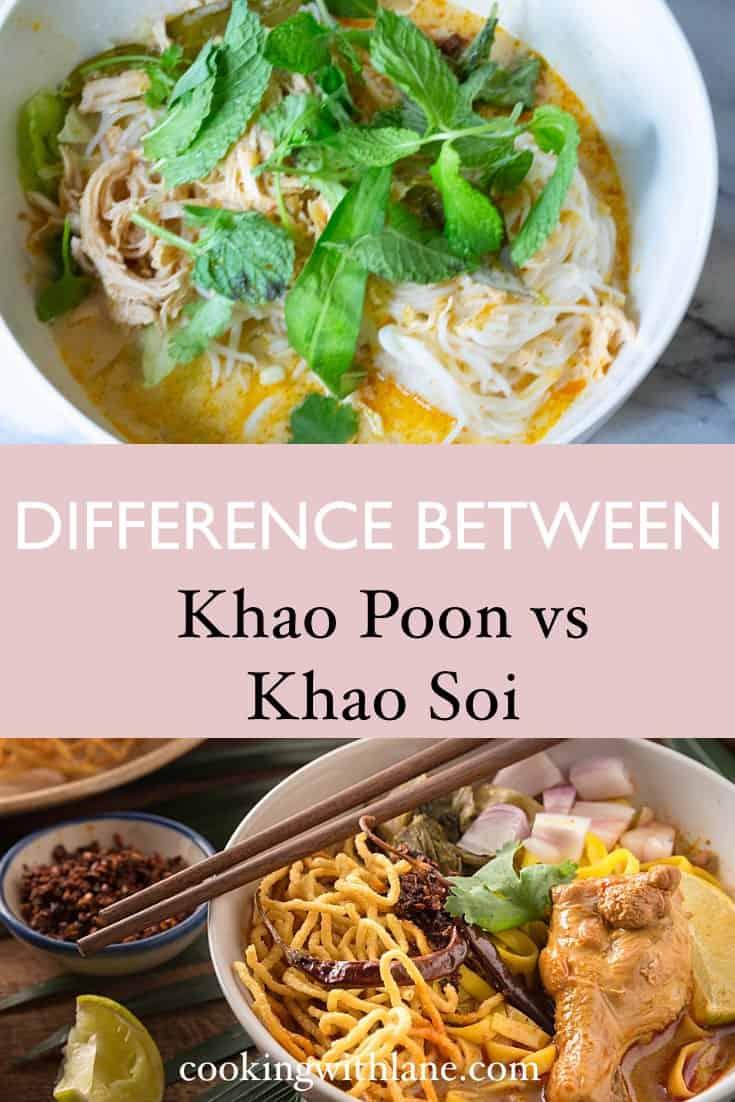 Khao soi versus khao poon