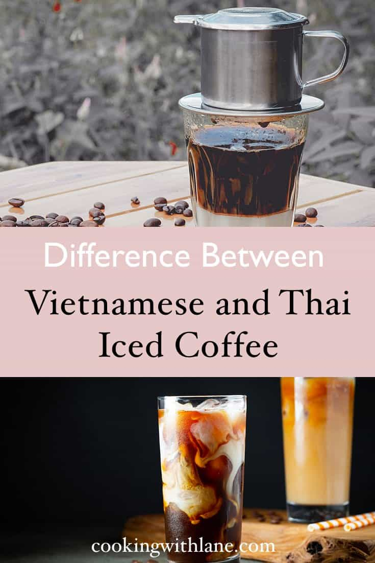 Thai and Vietnamese iced coffee comparison