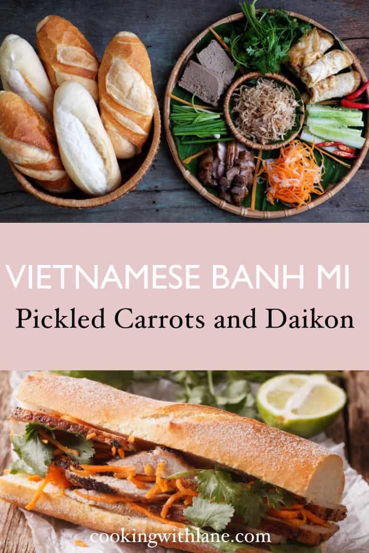 pickled daikon and carrots vietnamese banh mi