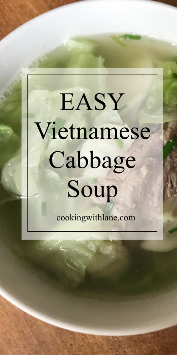 Vietnamese cabbage and pork dish canh bap cai
