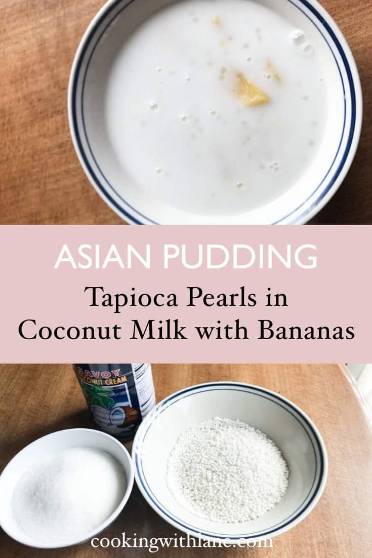 laos banana pudding with tapioca pearls nam van mak kuay