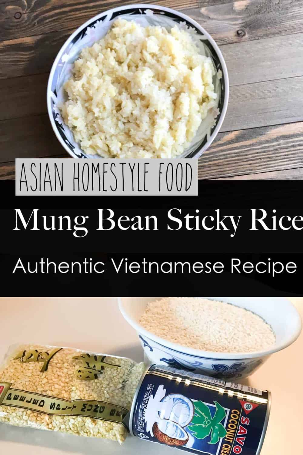 Mung bean sticky rice authentic vietnamese