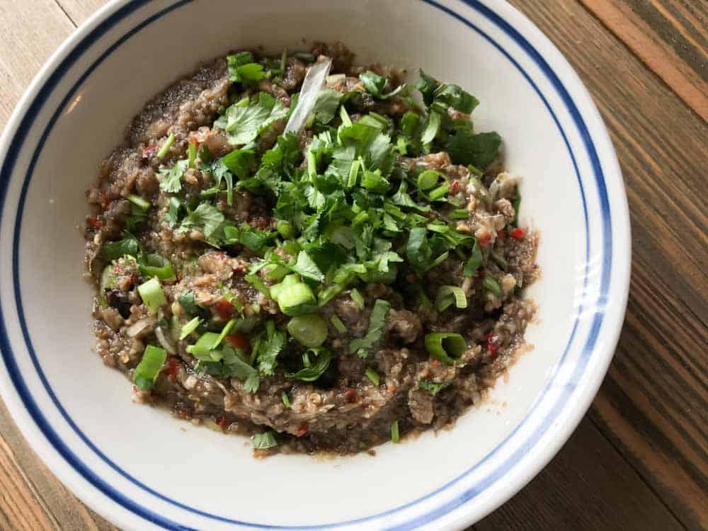 authentic lao jeow het jaew mushroom sauce