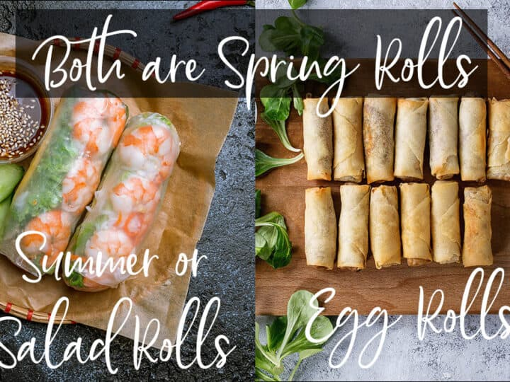 spring roll vs salad roll
