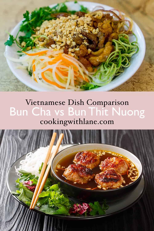 Bun cha vs bun thit nuong