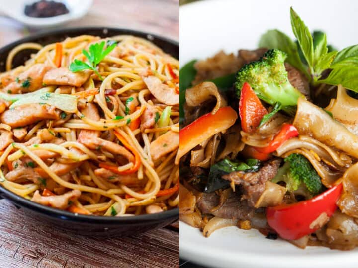 drunken noodle vs chicken lo mein