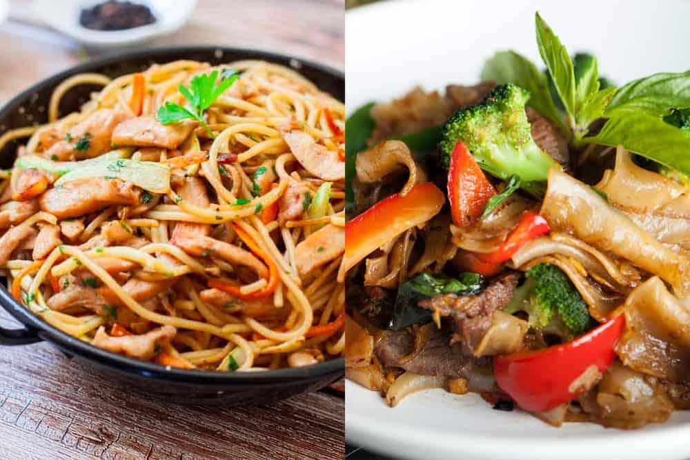 drunken noodle vs chicken lo mein