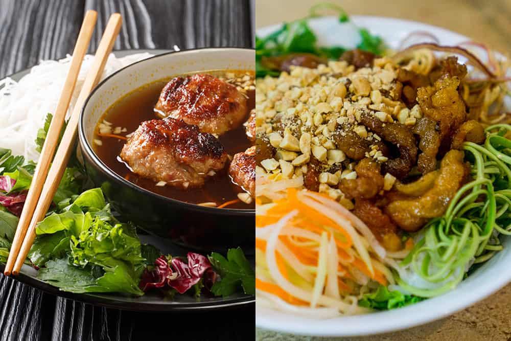 vietnamese bun cha vs bun thit nuong comparison