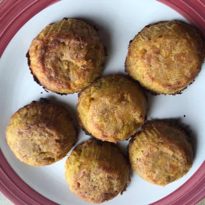 lao coconut plantain bake dessert muffin pancake