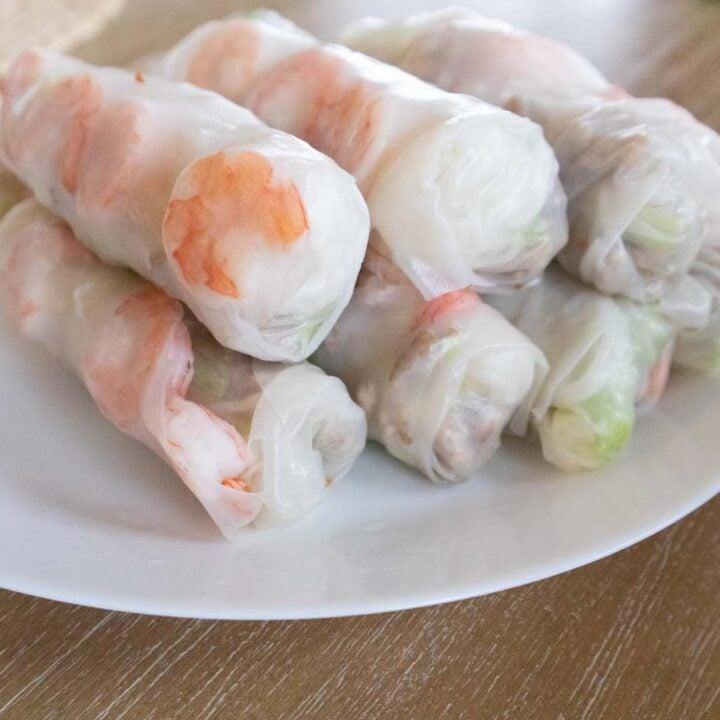 Vietnamese Summer Rolls with Ground Pork and Shrimp